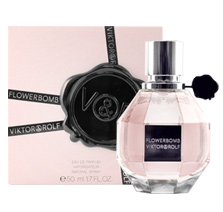 FLOWERBOMB was launched by the designer house of Viktor & Rolf on 2006. This scent possesses a blend of an explosive bouquet, a host of sweet floral layers, mingling jasmine, rose, freesia and orchids, underlined with patchouli. A lingering fragrance, which leaves a very chic, swirling trail. Flowerbomb is more than a name, it's a way of seeing life, an antidote to the reality against which we have only one weapon: dreams