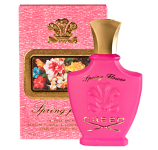 SPRING FLOWER women's perfume was launched by the designer house of CREED in 1996.  SPRING FLOWER celebrates the exuberance of new romance.  This floral and fruity women's fragrance possesses blend of Peach, melon, apple, Jasmine, rose, Musk and ambergris.